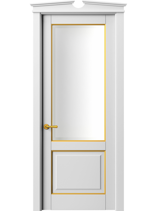 Sarto Toscana Plano 6302 Interior Door Snow-White Beech With Gold