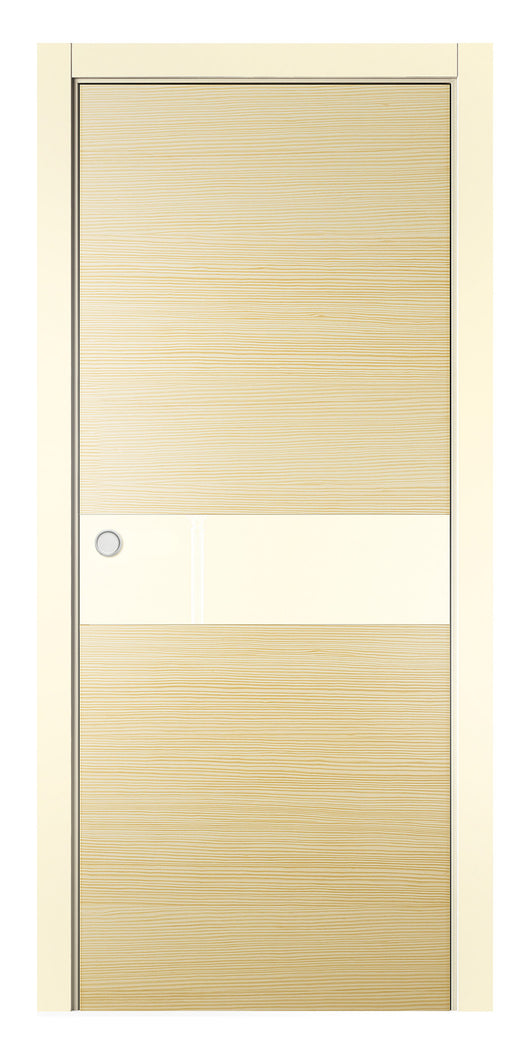 Sarto Avant 4031 Interior Pocket Door Vanilla Taeda Lacobel Glass
