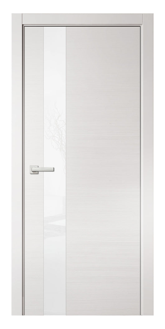 Sarto Avant 4035 Interior Door White Taeda Lacobel Glass