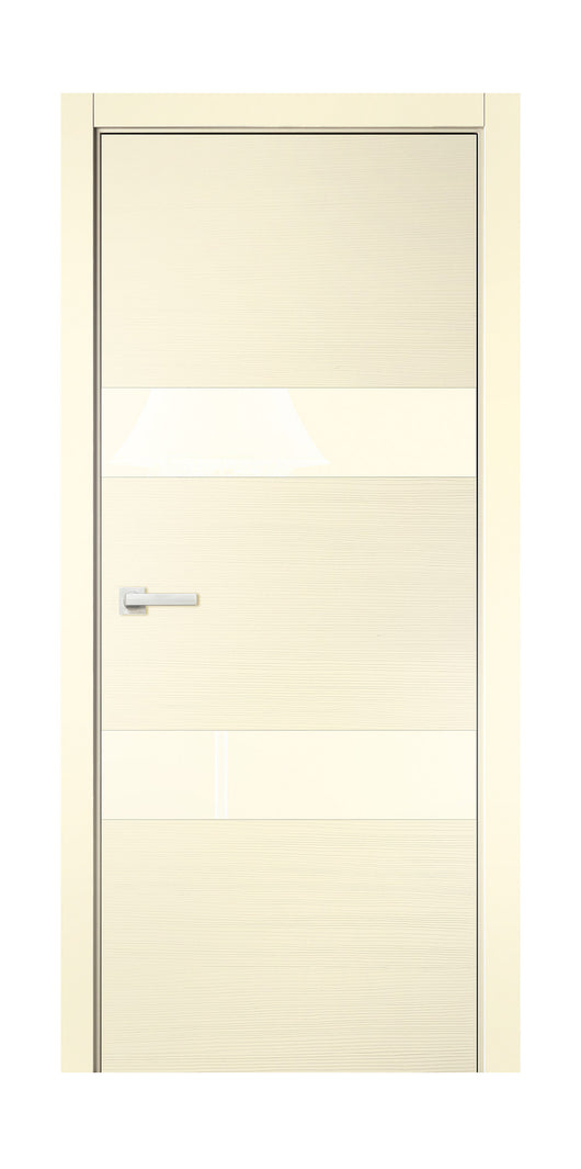 Sarto Avant 4037 Interior Pocket Door Taeda Ivory Lacobel Glass
