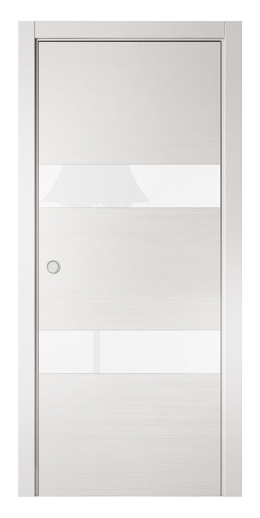 Sarto Avant 4037 Interior Pocket Door White Taeda Lacobel Glass