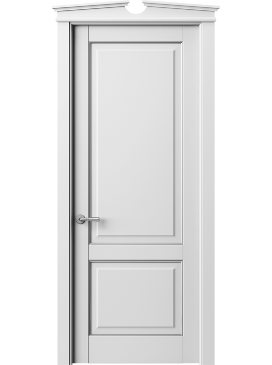 Sarto Toscana Plano 6303 Interior Door Snow-White Beech With Silver
