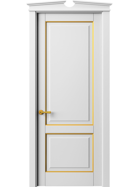 Sarto Toscana Plano 6303 Interior Door Snow-White Beech With Gold