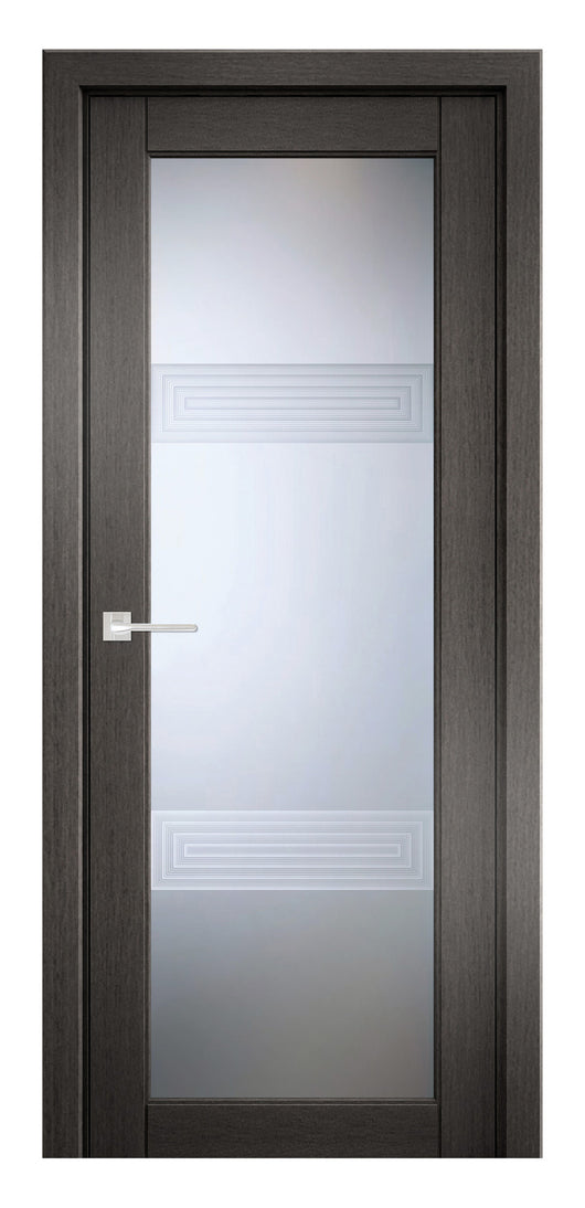Sarto Ego 6112 Interior Door Gray Oak 3D Glass