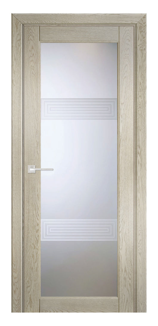 Sarto Ego 6112 Interior Door Sandy Oak 3D Glass