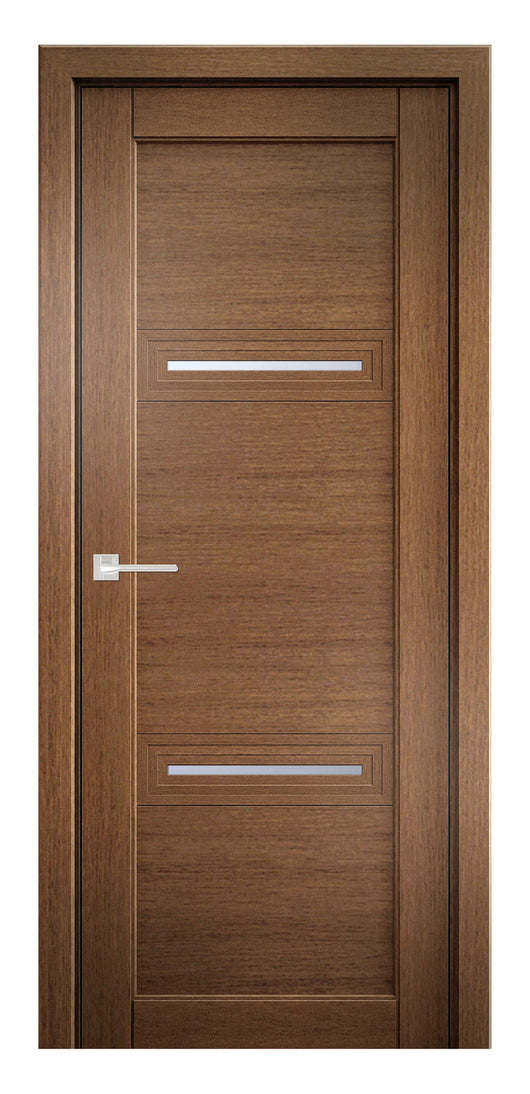 Sarto Ego 6113 Interior Door Honey Oak Satin Glass