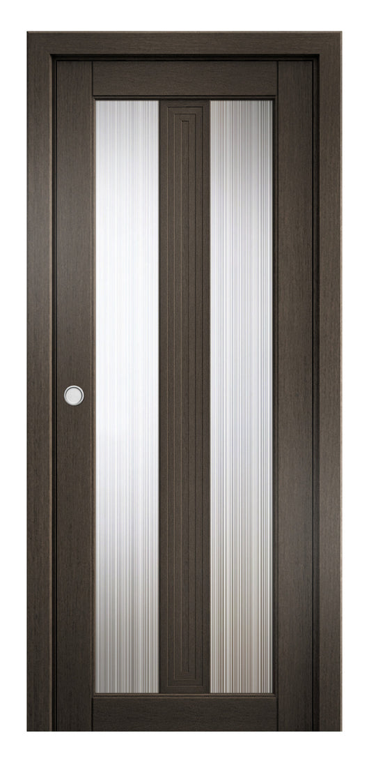Sarto Ego 6122 Interior Pocket Door Royal Oak Rain Glass