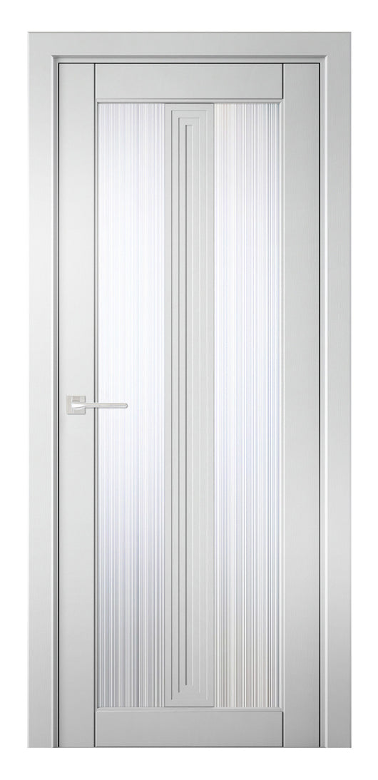 Sarto Ego 6122 Interior Door Snow-White Oak Rain Glass