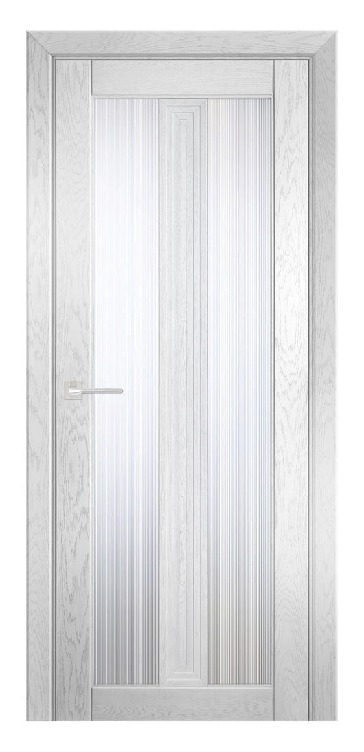 Sarto Ego 6122 Interior Door Frozen Oak Rain Glass