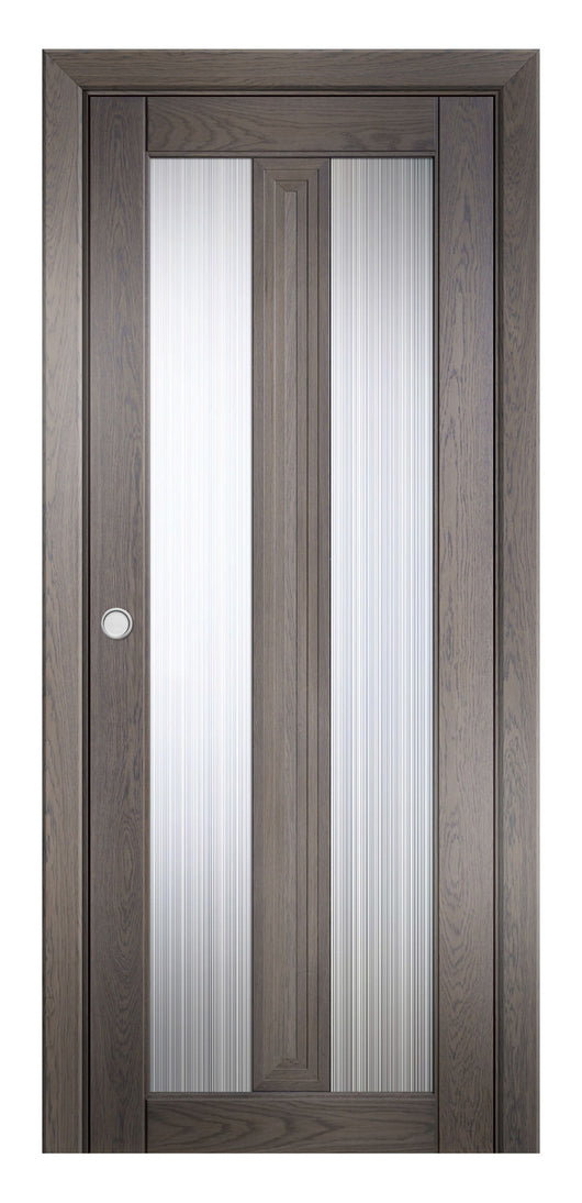 Sarto Ego 6122 Interior Pocket Door Marble Oak Rain Glass