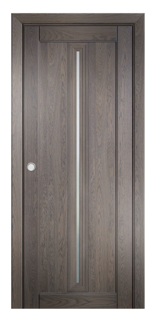 Sarto Ego 6123 Interior Pocket Door Marble Oak Satin Glass
