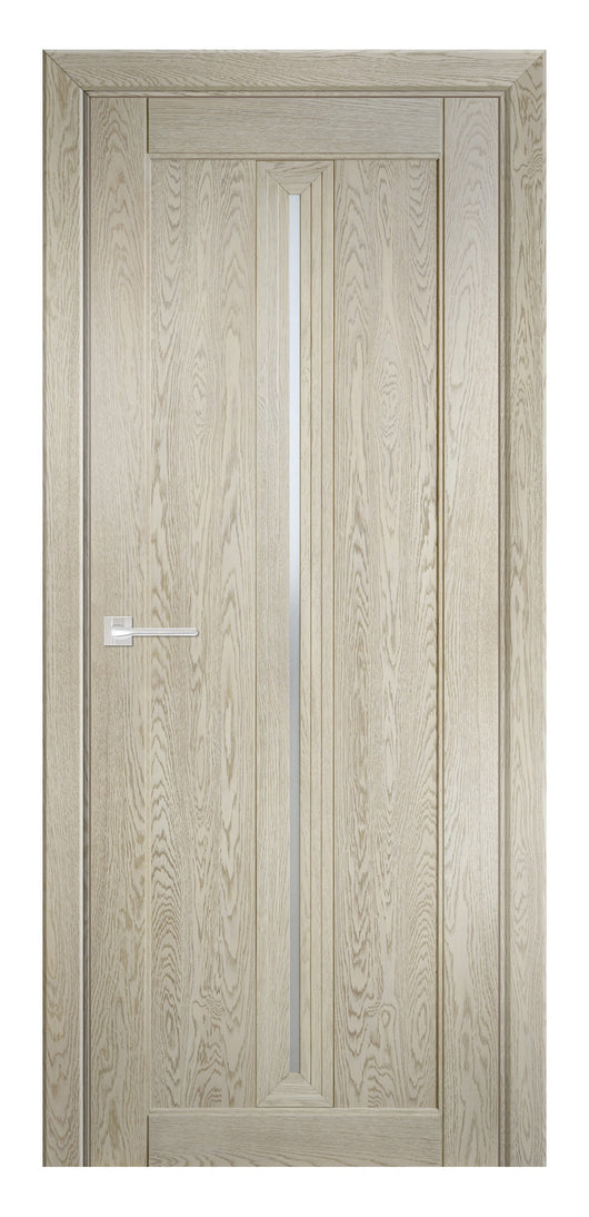 Sarto Ego 6123 Interior Door Sandy Oak Satin Glass