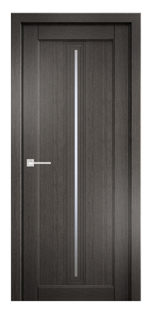 Sarto Ego 6123 Interior Door Gray Oak Satin Glass