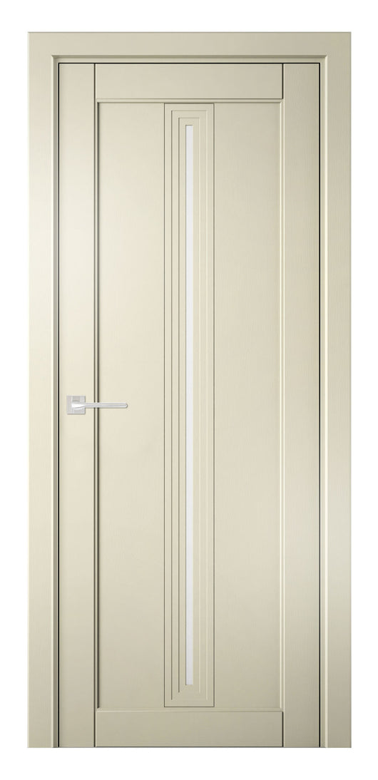 Sarto Ego 6123 Interior Door Ivory Oak Satin Glass