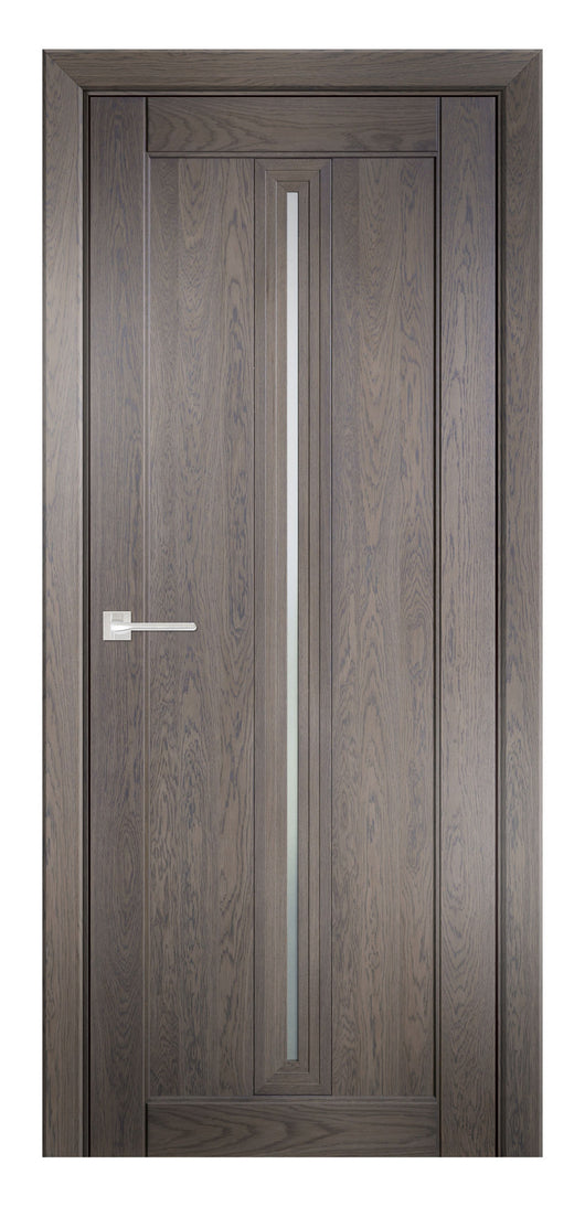 Sarto Ego 6123 Interior Door Marble Oak Satin Glass