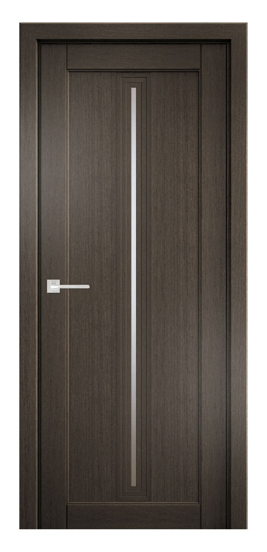 Sarto Ego 6123 Interior Door Royal Oak Satin Glass