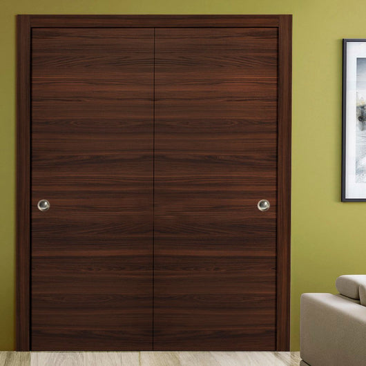 Sartodoors Planum 0010 Interior Closet Sliding Solid Wood Bypass