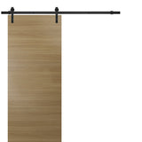 Planum 0010 Sliding Wood Modern Barn Door Honey Ash with Track 6.6 FT