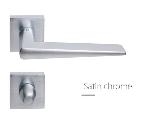 Cervinia European Door Handle Satin Chrome