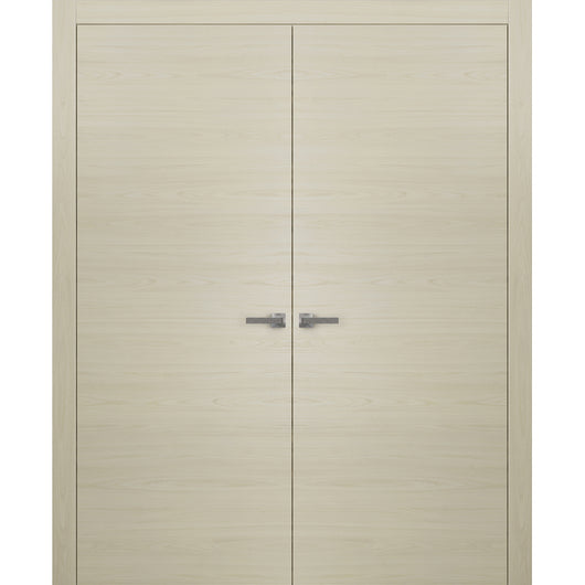 Planum 0010 Interior Modern Closet Solid Double Doors Milk Ash NO Pre-drilled