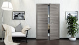 SARTODOORS Planum 0010 Interior Modern Closet Solid Double Doors Ginger Ash NO Pre-drilled