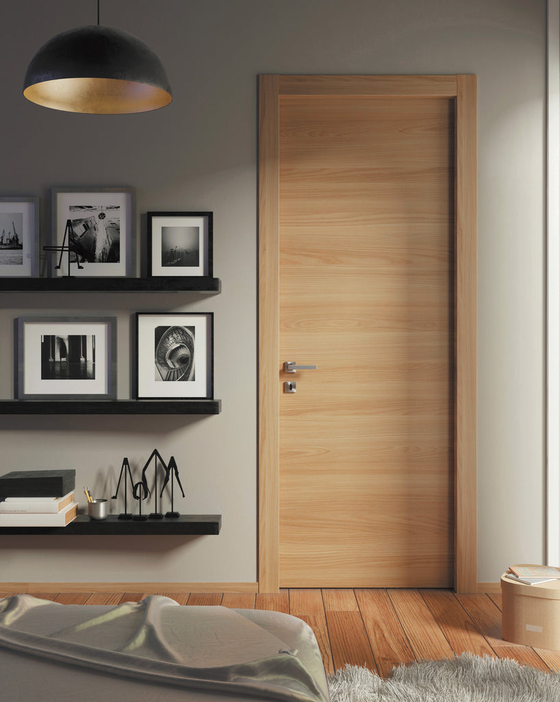 Planum 0010 Interior Modern Flush Solid Wood Door Honey