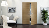 SARTODOORS Planum 0010 Interior Modern Closet Solid Double Doors Honey Ash NO Pre-drilled
