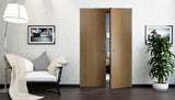 SARTODOORS Planum 0010 Interior Modern Closet Solid Double Doors Smoky Walnut NO Pre-drilled