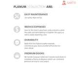 SARTODOORS Planum 0010 Interior Modern Flush Solid Wood Door Ginger Ash NO Pre-drilled