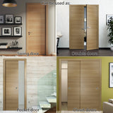 SARTODOORS Planum 0010 Interior Modern Flush Solid Door Slab Honey Ash