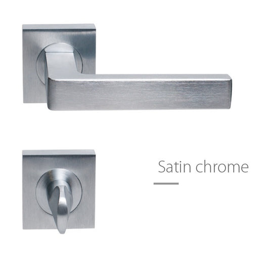 Fimet Ice F05 European Door Handle Satin Chrome