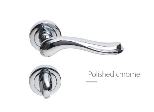 Passini Laura Liscia European Door Handle Polished Chrome
