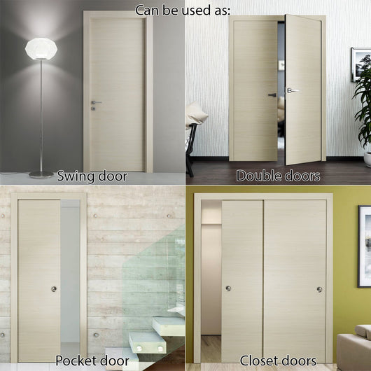 ... SARTODOORS Planum 0010 Interior Modern Flush Solid Wood Door Slab Milk  Ash ...