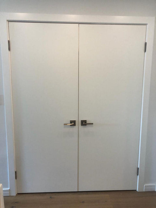 Sale 10 Planum 0010 Interior Double Wood Door White Silk
