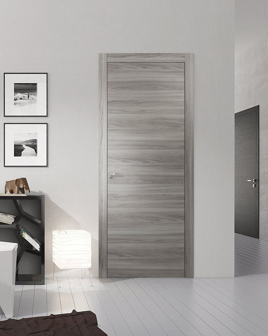 Sartodoors Planum 0010 Interior Modern Flush Solid Wood Door Ginger