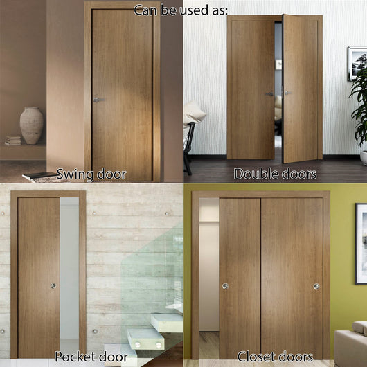 ... SARTODOORS Planum 0010 Interior Modern Flush Solid Wood Door Slab Smoky  Walnut ...
