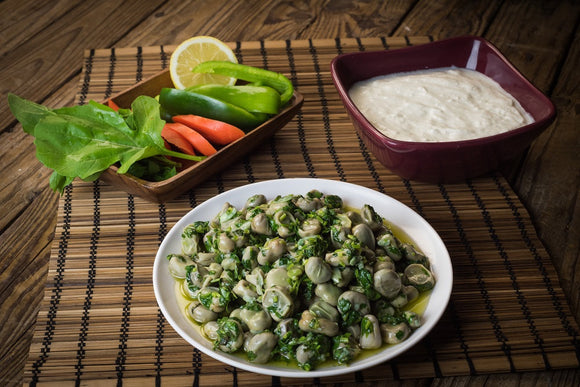 Broad Beans in oil with yogurt