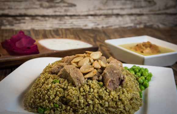 Freekeh with meat