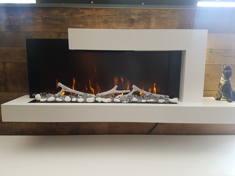 Napoleon Stylus Wall Mount Electric Fireplace in White  NEFP32-5019W