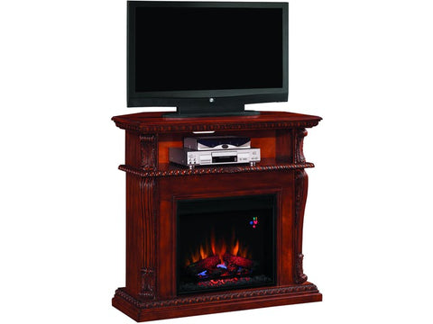 Classic Flame Corinth Media Mantel in Cherry