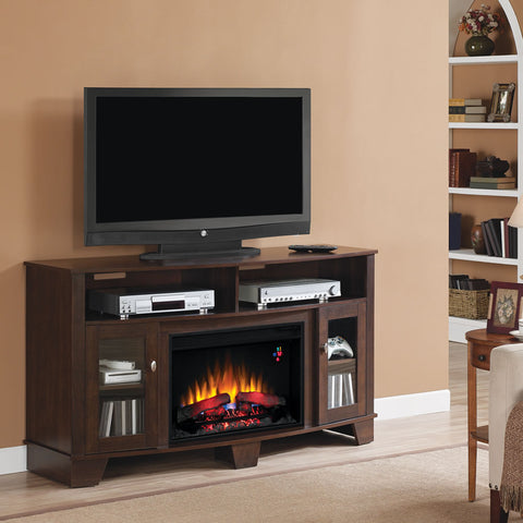Infrared Electric Fireplace Media Console in Midnight Cherry - 26MM4995-NC72