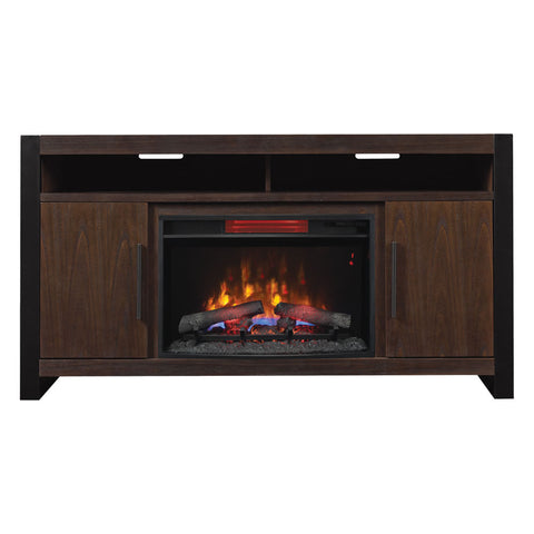 "Costa Mesa 72"" Electric Fireplace Media Console in Antique Coffee - 26MM90021-M343"
