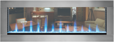 "Napoleon 50"" CLEARion See-Thru Electric Fireplace With Stainless Trim - NEFBD50H / NEFBD50H-SS-DTRM"