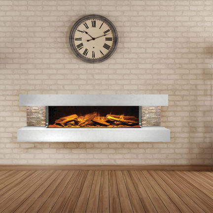 The Compton 1000 3 Sided Electric Fireplace Wall Mount