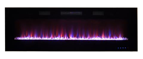 "Paramount 60"" Front Venting Slim Wall Mount Electric Fireplace - EF‐WM349 MO"