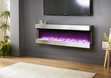 "Evolution Fires 72"" 3-Sided Empire Electric Fireplace"