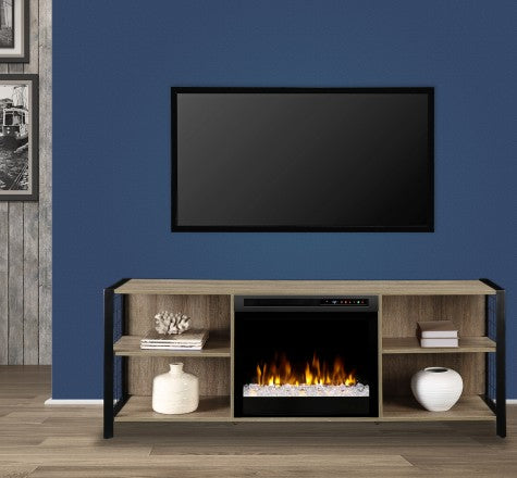 Dimplex Asher Electric Fireplace Media Console in Tudor Oak GDS23G8-1905TU