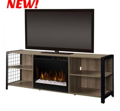 Dimplex Asher Electric Fireplace Media Console in Tudor Oak - GDS23G8-1905TU