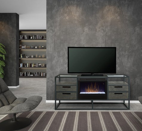 Dimplex Ivan Electric Fireplace Media Console in Noir Brown GDS25G5-4034NB