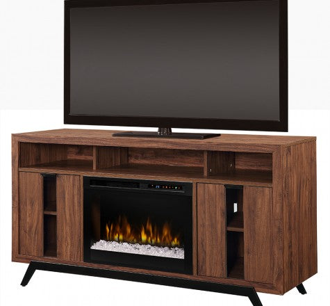 Dimplex Luna Acrylic Ice(XHD) Electric Fireplace Media Console in Tan Walnut GDS26G8-1990TW